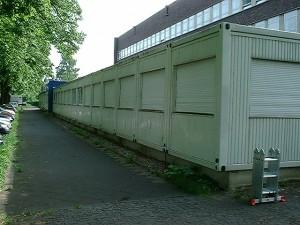 Groendaken op noodgebouwen