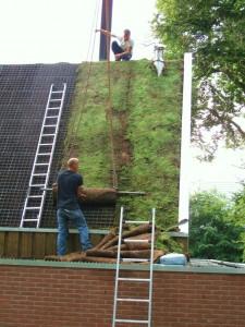 Groen dak op nieuw clubgebouw scouts.