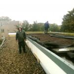 Groen laboratorium op dak Herderschêeschool Utrecht.